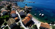 https://flic.kr/s/aHsk4TbNcT   Komiza on the island of Vis, Croatia   Aerial photos of Komiza, island Vis in south Dalmatia,  Croatia