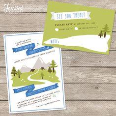 Wedding Invitation - Printable PDF - Mountains/Forest, $41.71 + print, etsy FreckledStationery