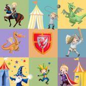 Cool medieval design for kids