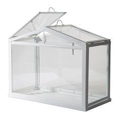 IKEA - SOCKER, Drivhus, Skaber et godt miljø for at frø og planter kan spire og gro.Udluftningsventilerne kan stå halvt åbne, så luften kan cirkulere og temperaturen falde.