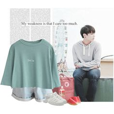 Jungkook: my weakness is that i care too much by yxing on Polyvore featuring JuJu, Oris, Fjällräven, Tag, kpop, bts and jungkook