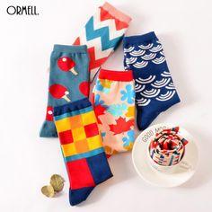 596871d2045e Funny Cute British Style Casual Harajuku Brand Fashion Novelty Art Socks  #blackfridaydeals #blackfridaysale #