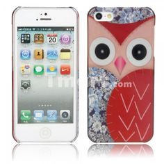 Cute Owl Pattern Protective Case for iPhone 5/5S Red @Traci Martin