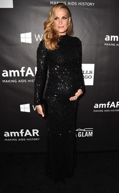 Molly Sims: gorgeous pregnant style  In a sequined black gown.