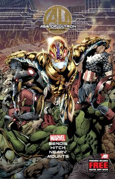 The cover to Age of Ultron #1, art by Bryan Hitch, Paul Neary, & Paul Mounts