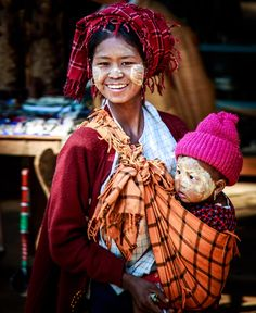 Pa-o lady and her daughter, Indein, near Inle Lake, Myanmar  By JP Klovstad
