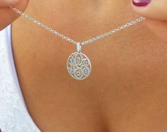 Delicate Sideways Initial Necklace Tiny by MonogrammedNecklaces