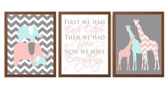 Baby Girl Nursery Art  Safari Nursery Decor For by iNKYSQUIDKIDS