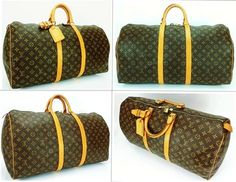 Louis Vuitton Keepall 55 Unisex Carry On Duffel Travel Bag.