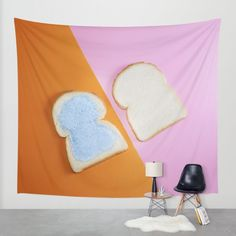 """PAINT IT BREAD 1""  $79.00  https://society6.com/product/paint-it-bread-1_tapestry#55=414  MADE BY: NAOMI ROTHENGATTER - DIAZ"
