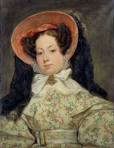 1832 Gillot Saint-Evre - Portrait of princess de Bragance. History of fashion in art & photo Female Portrait, Female Art, Romantic Period, Photo D Art, Painting Wallpaper, Fashion Painting, Turbans, Woman Painting, French Artists