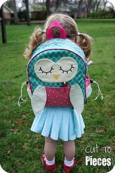 SLICED Tutorial: Owl Tag Along Toddler BackpackTutorial on the Moda Bake Shop. http://www.modabakeshop.com