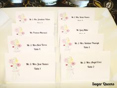 Sugar Queens DIY Mason Jar Country Chic Wedding Escort Seating Place Cards / Printable / Budget Wedding! ~ Use coupon code PINTEREST15 at checkout for 15% off of your total order!