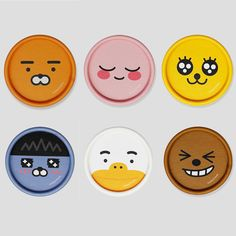 Kakao Friends Character Round paper Stickers official goods comic #kakaofriends