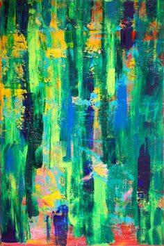 ARTFINDER: Cathartic II by Nestor Toro - Many lines make up this work with a hint of randomness. Very vibrant painting to fill a room with lots of life! This piece has many layers and fine details. ...