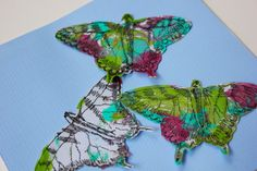 Paper Swallowtails-Original Mixed Media by StoriesandTails on Etsy #mixedmedia #Etsy #butterflyart #paperart