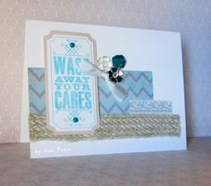 Frosted papers with December Stamp of the Month.