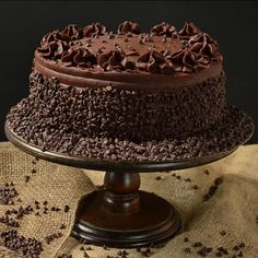 Chocolate Chip Frosted Yellow Cake | Birthday Cake, Chocolate Cake | Beautiful Cake Pictures