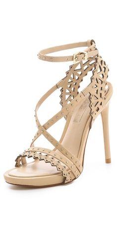 BCBGMAXAZRIA Esra Laser Cut Sandals