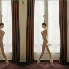 Ballerina Project in Paris: #ballerina - @katieboren1 #Paris #bodysuit by @wolfordfashion #wolford #ballerinaproject_ #ballerinaproject #ballet #dance #window by ballerinaproject_
