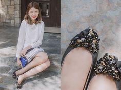 012314 Tricia Gosingtian, My Eyes, Feminine, Fancy, Style Inspiration, Flats, My Style, Skirts, Filipina