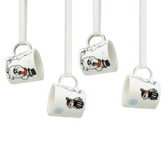 Moomin 4 Mini Mugs for Christmas Tree Arabia Winter Forest 2012 Scandinavian Interior Design, Nordic Design, Moomin Mugs, Christmas Minis, Christmas Tree, Kawaii, Cute Mugs, Mugs Set, Online Shopping Stores