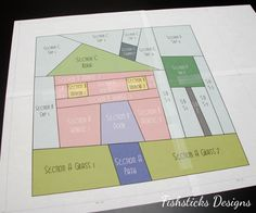 """The Wonky House Quilt Block Tutorial   Fishsticks Designs Blog.  Lovely block! Will try cutting up only the """"sections""""."""
