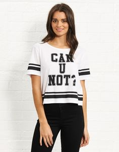 Image for Can You Not Crop Tee from Jay Jays