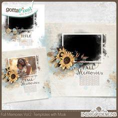 Fall Memories MaskArt Templates 2in1 Vol.2 :: Gotta Pixel Digital Scrapbook Store