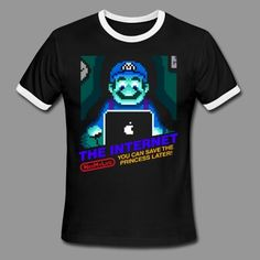 You can save the princess later!  Shirts, Spreadshirt, Graphic Design, Cute, Apparel, Clothing, tshirts, tshirt, Printing, Screen Printing, Custom Shirts, Funny, Bookyluv, Star Wars, Hair, Coffee, Workout, Working Out, Nintendo