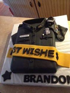 Police cake Police Retirement Party, Police Party, Retirement Cakes, Retirement Parties, Cupcakes, Cupcake Cakes, Cop Party, Police Cakes, Fireman Cake
