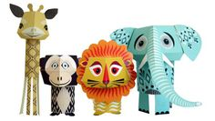 DIY paper animals from Mibo