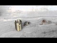 Installing Metal Threaded Inserts For Wood - YouTube