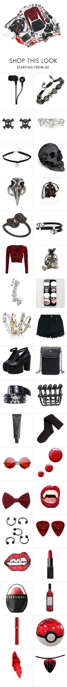 """""""Freedom"""" by k-pop-things-and-such ❤ liked on Polyvore featuring Skullcandy, Jules Smith, Hot Topic, L'Objet, Pamela Love, Urban Outfitters, Michael Spirito, Alexander McQueen, Pier 1 Imports and Bling Jewelry"""