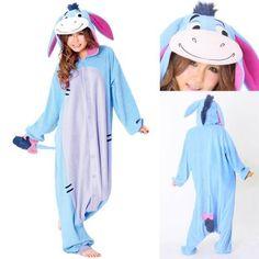2ebdef31c84f Blue Eeyore Donkey Kigurumi Onesies Hoodie Pajamas Unisex Costume Halloween  Onesie