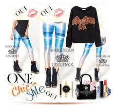 One Chic Style Of Leggings by westcoastcharmed on Polyvore featuring My Flat In London, Style & Co., Chanel, ULTA and Oui