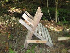 http://homesteadsurvival.blogspot.com/2012/11/wood-pallet-homemade-saw-buck-for.html
