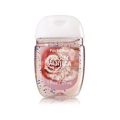 Bath Body Works Warm Vanilla Sugar PocketBac Sanitizing Hand Gel 29 mL ($7.11) ❤ liked on Polyvore featuring beauty products, bath & body products, body cleansers and gel nail care