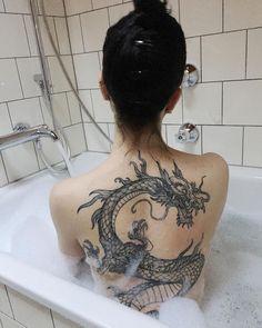 50 eye-catching lion tattoos that make you fancy ink - the best DIY tattoos . - 50 eye-catching lion tattoos that make you want ink – the best DIY tattoo ideas - Dragon Tattoo For Women, Dragon Tattoo Designs, Tattoos For Women, Dragon Tattoo On Back, Red Dragon Tattoo, Snake Tattoo, Dragon Art, Red Tattoos, Mini Tattoos