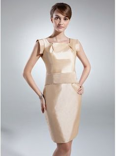 Mother of the Bride Dresses - $127.99 - Sheath/Column Knee-Length Taffeta Mother of the Bride Dress With Ruffle  http://www.dressfirst.com/Sheath-Column-Knee-Length-Taffeta-Mother-Of-The-Bride-Dress-With-Ruffle-008016038-g16038