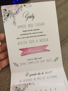Convite Madrinha 05 Beautiful Day, Boho Wedding, Wedding Colors, Wedding Planner, Wedding Invitations, Wedding Inspiration, Place Card Holders, Bridesmaid, Bridal Tips