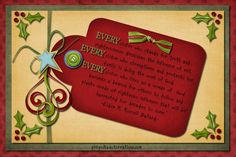 Dec 2011 handout, free printable - I've used these before & she is very talented