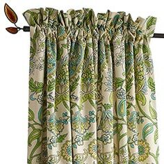 Paisley Print Gardenia Window Panel