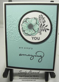 Amazing You with the Petal Pair Embossing Folders