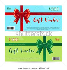 Gift Certificate Voucher Template Cool Elegant Gift Voucher Or Gift Card Or Coupon Template For Discount Or .