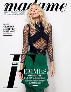 Claudia Schiffer à la Une du Madame Figaro du 04 mars 2016