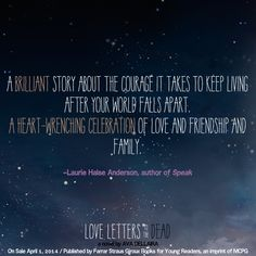 Dead Quotes Quote From Love Letters To The Deadava Dellaira  Favorite Books .