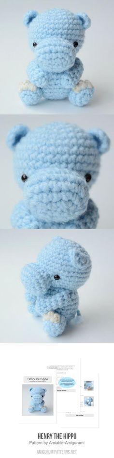 Henry The Hippo Amigurumi Pattern