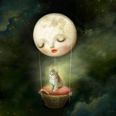 Moon art - fantasy digital art with a sprinkle of surrealism Artwork Final Fantasy, Art Fantaisiste, Mushroom Art, Digital Art Girl, Dragon Art, Blond Amsterdam, Moon Art, Shadowrun, Whimsical Art