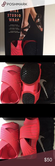 Nike Studio Wrap Brand New w Box size Small Brand new, never used Nike Studio Wrap with original box and wash bag included. Size small, which fits US woman size 6-7.5. Color: Coral Pink with black bottoms, as shown on photos. Nike Shoes Athletic Shoes